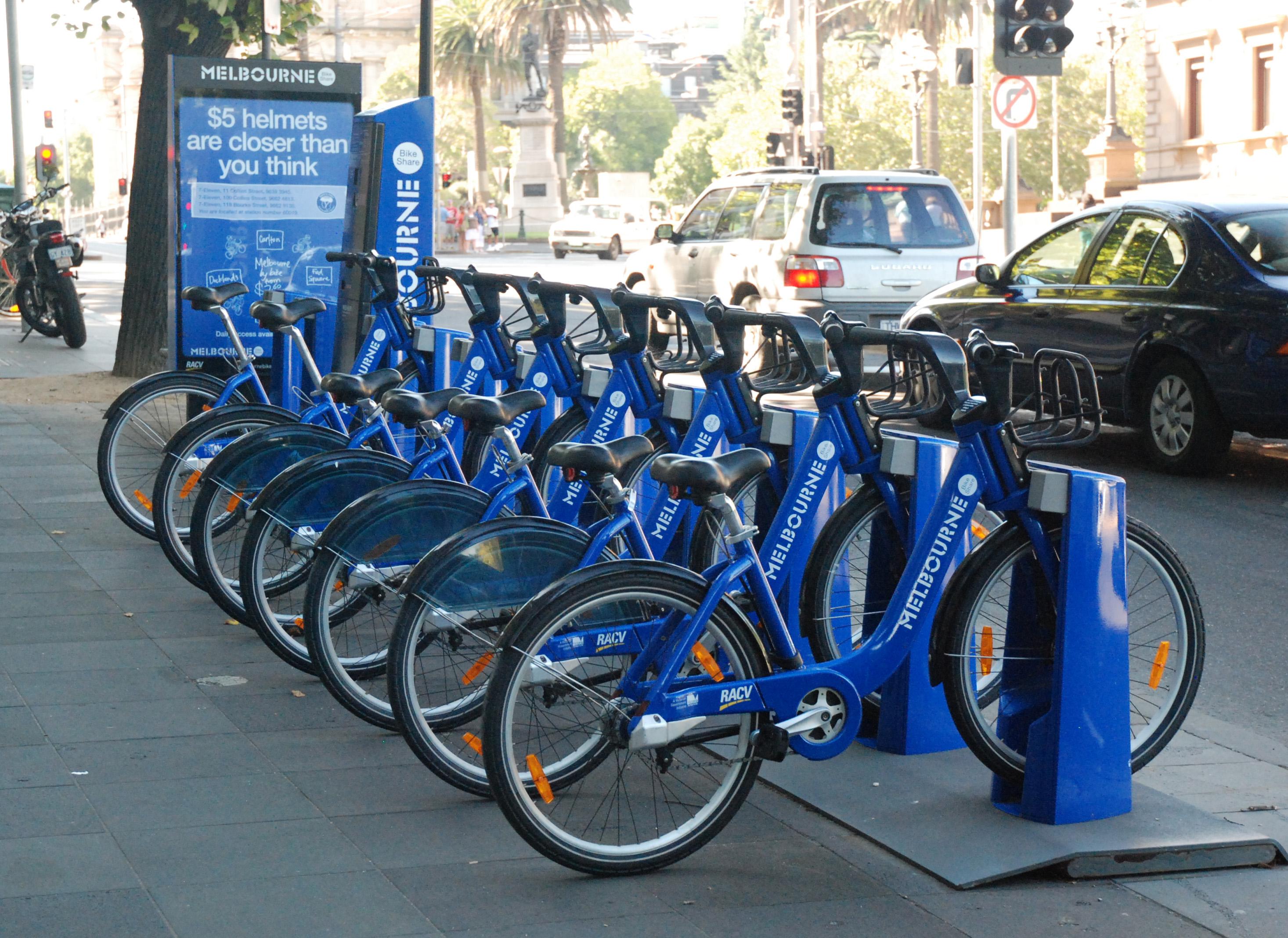 De blauwe fiets